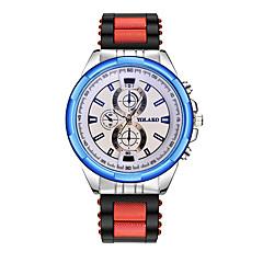 お買い得  メンズ腕時計-男性用 リストウォッチ 中国 カジュアルウォッチ シリコーン バンド ファッション ブラック / ブルー / レッド