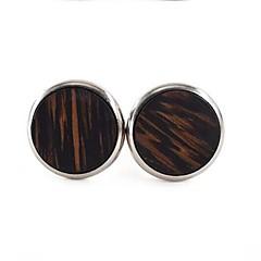 billige Manchetknapper-Cirkelformet Sølv Manchetter Træ / Legering Pænt tøj Herre Kostume smykker Til Daglig