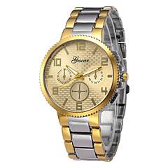 preiswerte Herrenuhren-Herrn Armbanduhr Chinesisch Chronograph / Armbanduhren für den Alltag Edelstahl Band Armreif / Minimalistisch Silber / Gold