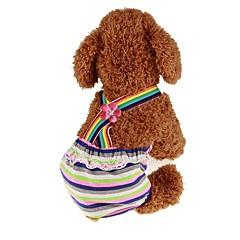お買い得  犬用ウェア&アクセサリー-ペット用 ジャンプスーツ 犬用ウェア 縞柄 / プリンセス ダークグリーン 中身 コスチューム ペット用 男性 スポーツ&アウトドア / ドレス