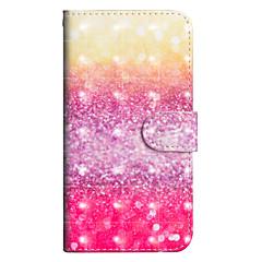 Недорогие Кейсы для iPhone 5-Кейс для Назначение Apple iPhone X / iPhone 8 Plus Кошелек / Бумажник для карт / со стендом Чехол Градиент цвета Твердый Кожа PU для