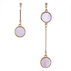 preiswerte Ohrringe-Damen Nicht übereinstimmend Tropfen-Ohrringe - Stilvoll Gold / Weiß Für Alltag / Strasse