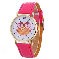 お買い得  レディース腕時計-Xu™ 女性用 ドレスウォッチ / リストウォッチ 中国 クリエイティブ / カジュアルウォッチ / 大きめ文字盤 PU バンド カジュアル / ファッション ブラック / 白 / ブルー