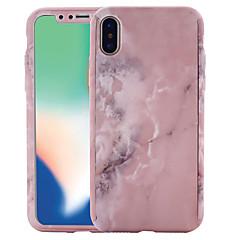 Недорогие Кейсы для iPhone 6 Plus-Кейс для Назначение Apple iPhone X / iPhone 8 С узором Чехол Мрамор Твердый ПК для iPhone X / iPhone 8 Pluss / iPhone 8
