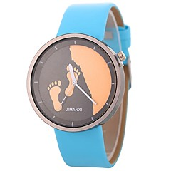 お買い得  レディース腕時計-Xu™ 女性用 リストウォッチ 中国 クリエイティブ / 愛らしいです / 大きめ文字盤 PU バンド ミニマリスト / スケルトン ブラック / 白 / ブルー