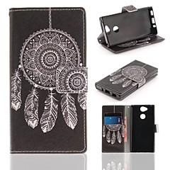 Недорогие Чехлы и кейсы для Sony-Кейс для Назначение Sony Xperia XA2 Кошелек / Бумажник для карт / со стендом Чехол Ловец снов Твердый Кожа PU для Xperia XA2
