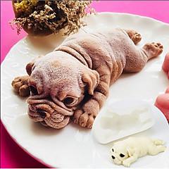 お買い得  ベイキング用品&ガジェット-大きな3Dシャーピー犬のシリコーンケーキ金型子犬ムースケーキ金型15センチメートル