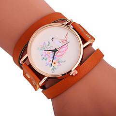 preiswerte Damenuhren-Xu™ Damen Armband-Uhr / Armbanduhr Chinesisch Kreativ / Armbanduhren für den Alltag / bezaubernd PU Band Blume / Modisch Schwarz / Weiß / Rot
