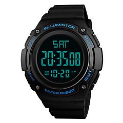 お買い得  メンズ腕時計-SKMEI 男性用 スポーツウォッチ 日本産 アラーム / カレンダー / クロノグラフ付き PU バンド カジュアル / ファッション ブラック / グリーン