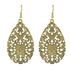preiswerte Ohrringe-Damen Lang Tropfen-Ohrringe - Birne Grundlegend, Modisch Silber / Asche / Bronze Für Alltag Verabredung