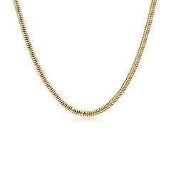 Недорогие Ожерелья-Муж. Ожерелья-цепочки - Позолота Змея Массивный, европейский, Мода Золотой 61 cm Ожерелье Бижутерия 1шт Назначение Повседневные, Для улицы