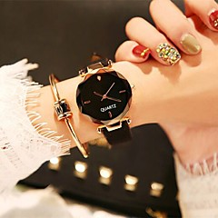 お買い得  レディース腕時計-女性用 ドレスウォッチ / リストウォッチ 中国 新デザイン / カジュアルウォッチ / 愛らしいです レザー バンド カジュアル / ファッション ブラック / ブラウン / グリーン