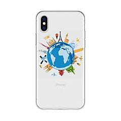 Недорогие Кейсы для iPhone 5-Кейс для Назначение Apple iPhone X / iPhone 8 Plus С узором Кейс на заднюю панель Мультипликация / Вид на город Мягкий ТПУ для iPhone X / iPhone 8 Pluss / iPhone 8