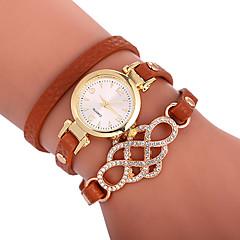 お買い得  レディース腕時計-Xu™ 女性用 ブレスレットウォッチ / リストウォッチ 中国 クリエイティブ / カジュアルウォッチ / 愛らしいです PU バンド ボヘミアンスタイル / ファッション ブラック / 白 / ブルー