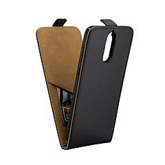 Недорогие Чехлы и кейсы для Huawei Mate-Кейс для Назначение Huawei Mate 10 lite Бумажник для карт / Флип Чехол Однотонный Мягкий Кожа PU для Mate 10 lite