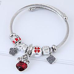preiswerte Armbänder-Damen Skulptur Bettelarmbänder - Blume Einfach, Europäisch, Modisch Armbänder Schwarz / Rot / Rosa Für Alltag