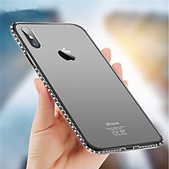 Недорогие Кейсы для iPhone 6 Plus-Кейс для Назначение Apple iPhone X / iPhone 8 Стразы Кейс на заднюю панель Сияние и блеск Мягкий ТПУ для iPhone X / iPhone 8 Pluss / iPhone 8