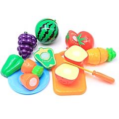 abordables Juegos de imaginación-Juegos de Rol Comida Fruta Interacción padre-hijo Carcasa de plástico Preescolar Chico Chica Juguet Regalo 10 pcs