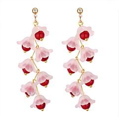 preiswerte Ohrringe-Damen Tropfen-Ohrringe - Künstliche Perle Blume Stilvoll Schwarz / Rot / Rosa Für Party / Abend Verabredung