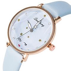preiswerte Damenuhren-Damen Armbanduhr Armbanduhren für den Alltag / lieblich PU Band Modisch / Elegant Schwarz / Weiß / Blau