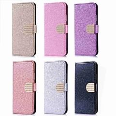 お買い得  Huawei Pシリーズケース/ カバー-ケース 用途 Huawei P20 Pro / P20 lite カードホルダー / ラインストーン / スタンド付き フルボディーケース キラキラ仕上げ ハード PUレザー のために Huawei P20 / P10 Lite / P10