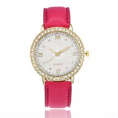 preiswerte Damenuhren-Damen Armbanduhr Chinesisch Armbanduhren für den Alltag PU Band Modisch Schwarz / Weiß / Blau