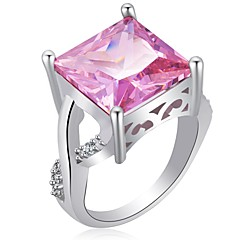 preiswerte Ringe-Damen Kubikzirkonia Stapel Ring - Elegant 6 / 7 / 8 Purpur / Rosa Für Party / Büro & Karriere
