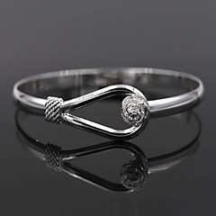 cheap Bracelets-Women's Bracelet Bangles - Sterling Silver Flower Bracelet Silver For Wedding Party Daily