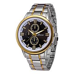 abordables Relojes con Correa de Acero-Hombre Reloj de Pulsera Chino Cronógrafo / Reloj Casual Acero Inoxidable Banda Brazalete / Minimalista Plata / Dorado