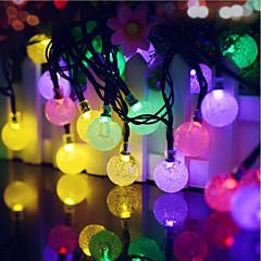 お買い得  LED アイデアライト-40led青色の太陽の光の妖精の文字列クリスマスパーティーを導いた