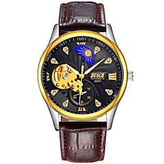 preiswerte Herrenuhren-BOSCK Mechanische Uhr Sender Wasserdicht, Transparentes Ziffernblatt, Nachts leuchtend Weiß / Schwarz / Gold / Automatikaufzug