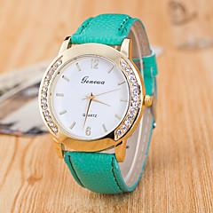 preiswerte Damenuhren-Damen damas Armbanduhr Quartz Armbanduhren für den Alltag PU Band Analog Modisch Schwarz / Weiß / Blau - Hellblau Khaki Leicht Grün