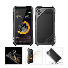 abordables Fundas para iPhone-Funda Para Apple iPhone X Impermeable / Antigolpes Funda de Cuerpo Entero Armadura Dura Metal para iPhone X / iPhone 8 Plus / iPhone 8