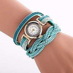 preiswerte Damenuhren-Damen Armband-Uhr Chinesisch Imitation Diamant PU Band Freizeit / Modisch Schwarz / Weiß / Blau