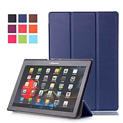 cheap Cases / Covers for Lenovo-Case For Lenovo Lenovo Tab-X103F with Stand / Magnetic Full Body Cases Solid Colored Hard PU Leather for Lenovo Tab-X103F