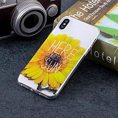 Недорогие Кейсы для iPhone 7-Кейс для Назначение Apple iPhone X / iPhone 8 Plus IMD / С узором Кейс на заднюю панель Слова / выражения / Цветы Мягкий ТПУ для iPhone X / iPhone 8 Pluss / iPhone 8