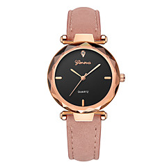 preiswerte Damenuhren-Geneva Damen Armbanduhr Chinesisch Neues Design / Armbanduhren für den Alltag / Cool Leder Band Freizeit / Modisch Schwarz / Rot / Grau