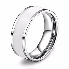 preiswerte Ringe-Paar Harz Stilvoll Ring - Harz, Titanstahl Kreativ Stilvoll, Modisch, Koreanisch 7 / 8 / 9 / 10 / 11 Weiß / Schwarz / Rot Für Karnival Bar