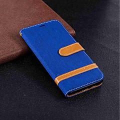 Недорогие Чехлы и кейсы для Huawei Mate-Кейс для Назначение Huawei Mate 10 lite / Mate 10 Кошелек / Бумажник для карт / со стендом Чехол Однотонный Твердый текстильный для Mate 10 / Mate 10 lite