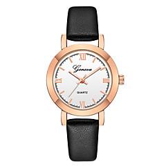 お買い得  レディース腕時計-Geneva 女性用 リストウォッチ 中国 新デザイン / カジュアルウォッチ / クール レザー バンド カジュアル / ファッション ブラック / ブラウン / 1年間
