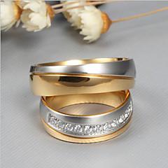 abordables Bijoux pour Femme-Couple Zircon cubique Couple de Bagues - Mode, Elégant 6 / 7 / 8 / 9 / 10 Or Pour Mariage Fiançailles Cérémonie / 2pcs