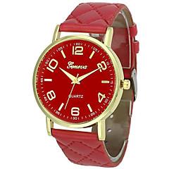 お買い得  メンズ腕時計-男性用 リストウォッチ 中国 クロノグラフ付き / 愛らしいです レザー バンド バングル / 多色 ブラック / 白 / レッド