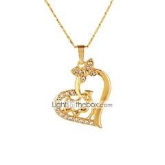 preiswerte Halsketten-Damen Anhängerketten - 18K vergoldet Medaillon, Herz Klassisch, Ethnisch Gold, Silber 50 cm Modische Halsketten 1pc Für Geschenk, Alltag
