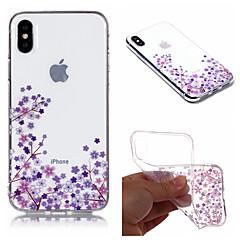 Недорогие Кейсы для iPhone 7 Plus-Кейс для Назначение Apple iPhone X / iPhone 8 Plus IMD / С узором Кейс на заднюю панель Цветы Мягкий ТПУ для iPhone X / iPhone 8 Pluss / iPhone 8