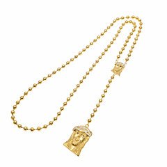 preiswerte Halsketten-Damen Kubikzirkonia Obsidian Stilvoll Anhängerketten / Y Halskette - Rose Gold überzogen Kopf Einzigartiges Design, Modisch Gold 75 cm Modische Halsketten Schmuck 1pc Für Weihnachten, Alltag