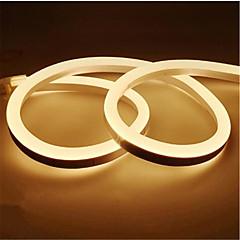 preiswerte LED Lichtstreifen-1m Flexible LED-Leuchtstreifen 120 LEDs 2835 SMD Warmes Weiß / Weiß / Gelb Wasserfest / Schneidbar / Dekorativ 12 V 1pc