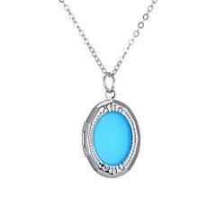preiswerte Halsketten-Damen Leuchtender Stein Lang Anhängerketten - Retro, Ethnisch, Modisch Blau 60 cm Modische Halsketten 1pc Für Halloween, Klub