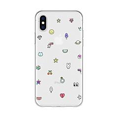 Недорогие Кейсы для iPhone 5-Кейс для Назначение Apple iPhone X / iPhone 8 Plus С узором Кейс на заднюю панель Мультипликация Мягкий ТПУ для iPhone X / iPhone 8 Pluss / iPhone 8