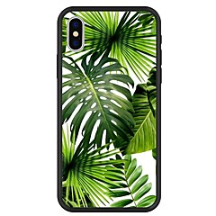 お買い得  iPhone 5S/SE ケース-ケース 用途 Apple iPhone X / iPhone 8 Plus パターン バックカバー 植物 / カートゥン ハード アクリル のために iPhone X / iPhone 8 Plus / iPhone 8