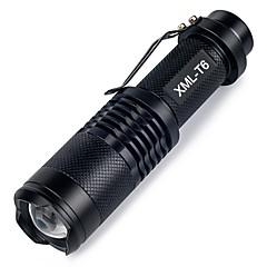 abordables Linternas-ismartdigi i-98 Linternas LED Portátil / A prueba de resbalones Camping / Senderismo / Cuevas / De Uso Diario / Caza Negro